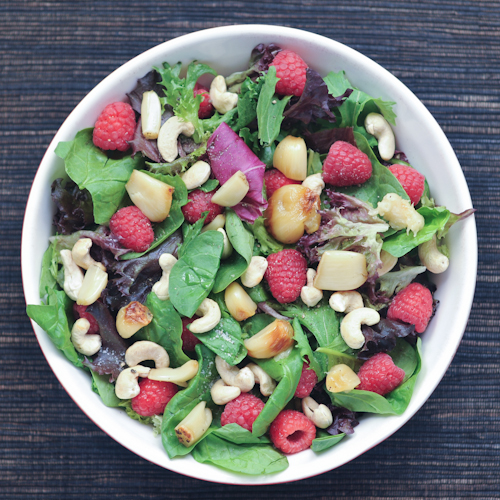 roasted garlic and raspberry Big Salad