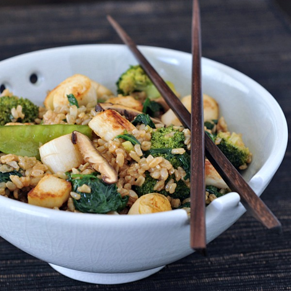 Sesame 'Scallop' Fried Rice