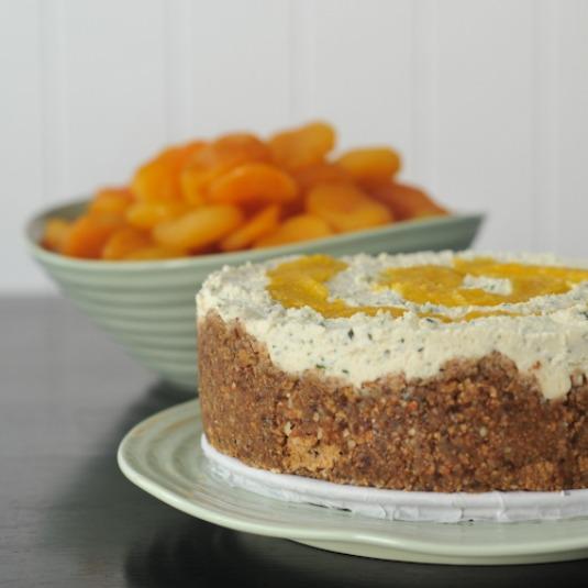 apricot rosemary cheesecake