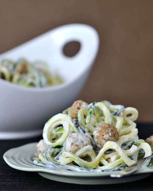 Lemon Caper Pasta with Goat Cheese Croutons @spabettie