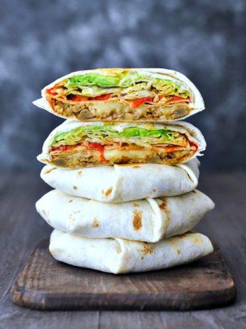 Taco Crunch Wrap @spabettie #vegan #glutenfree