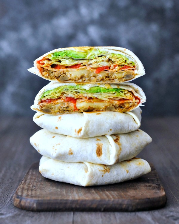 Homemade Crunchwrap Supreme @spabettie #vegan #glutenfree