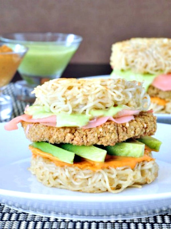 Vegan Ramen Burger