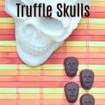 Double Chocolate Truffle Skulls @spabettie #vegan #glutenfree #Halloween #chocolate