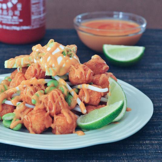 spicy Thai nachos