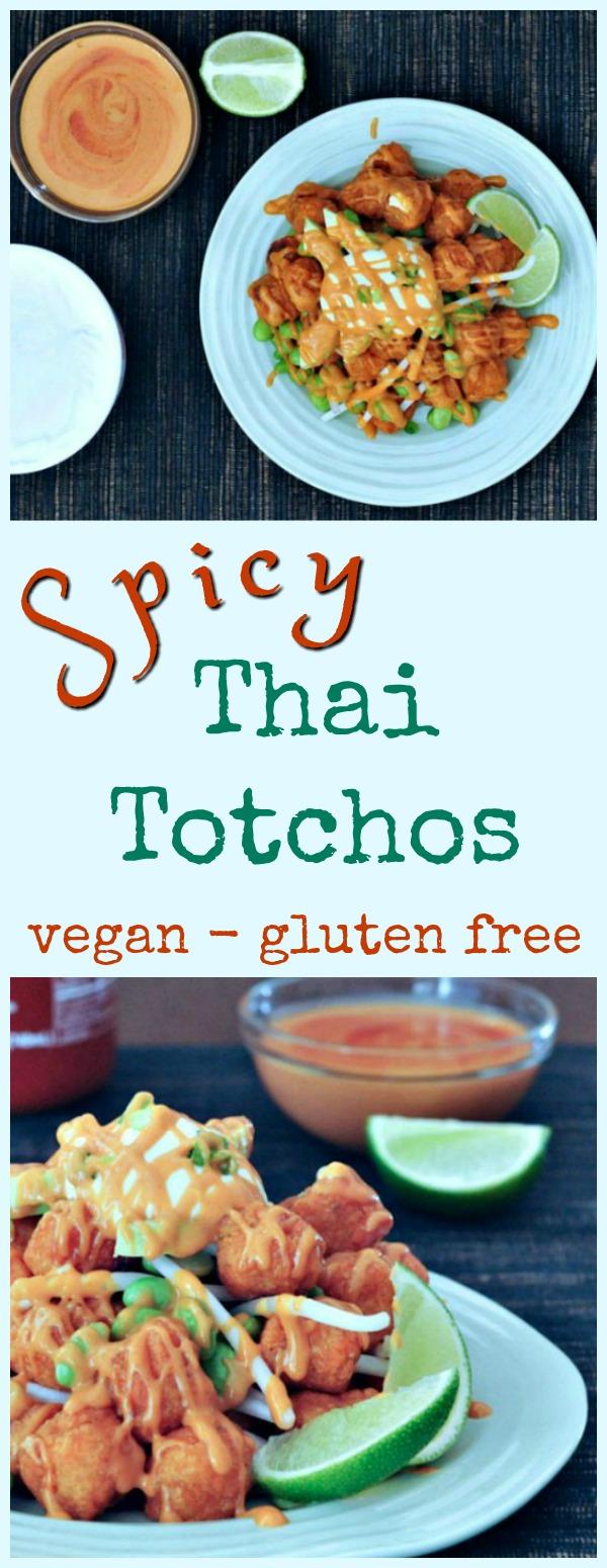 Spicy Thai Totchos Air Fryer @spabettie #vegan #glutenfree #airfryer