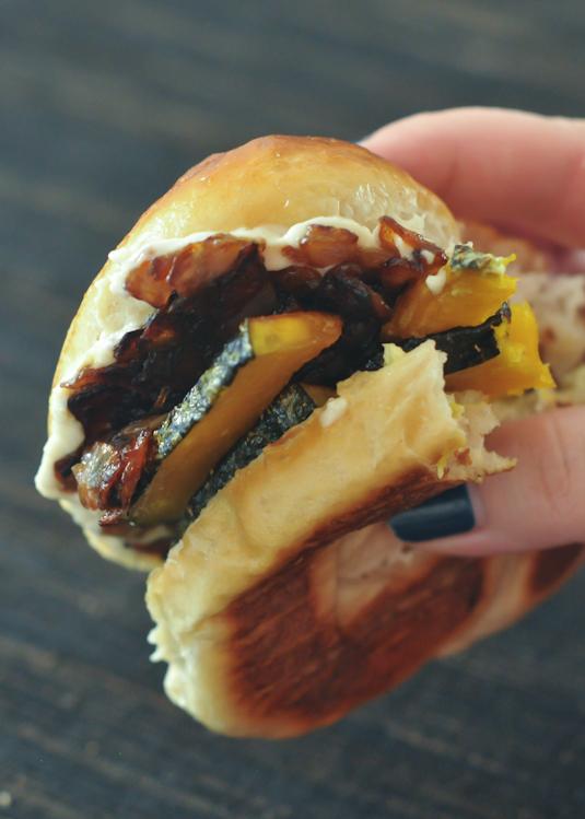 Caramelized Kabocha Sandwich