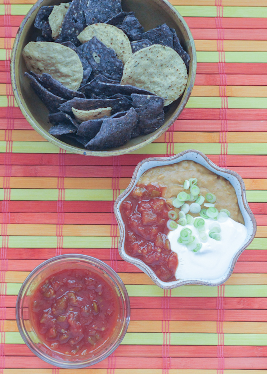 spicy queso bean dip