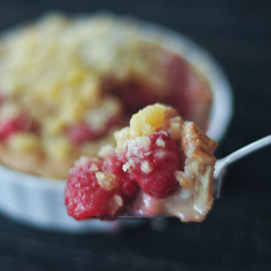 Raspberry Cream Crumble Pie @spabettie #vegan #glutenfree #soyfree #dessert