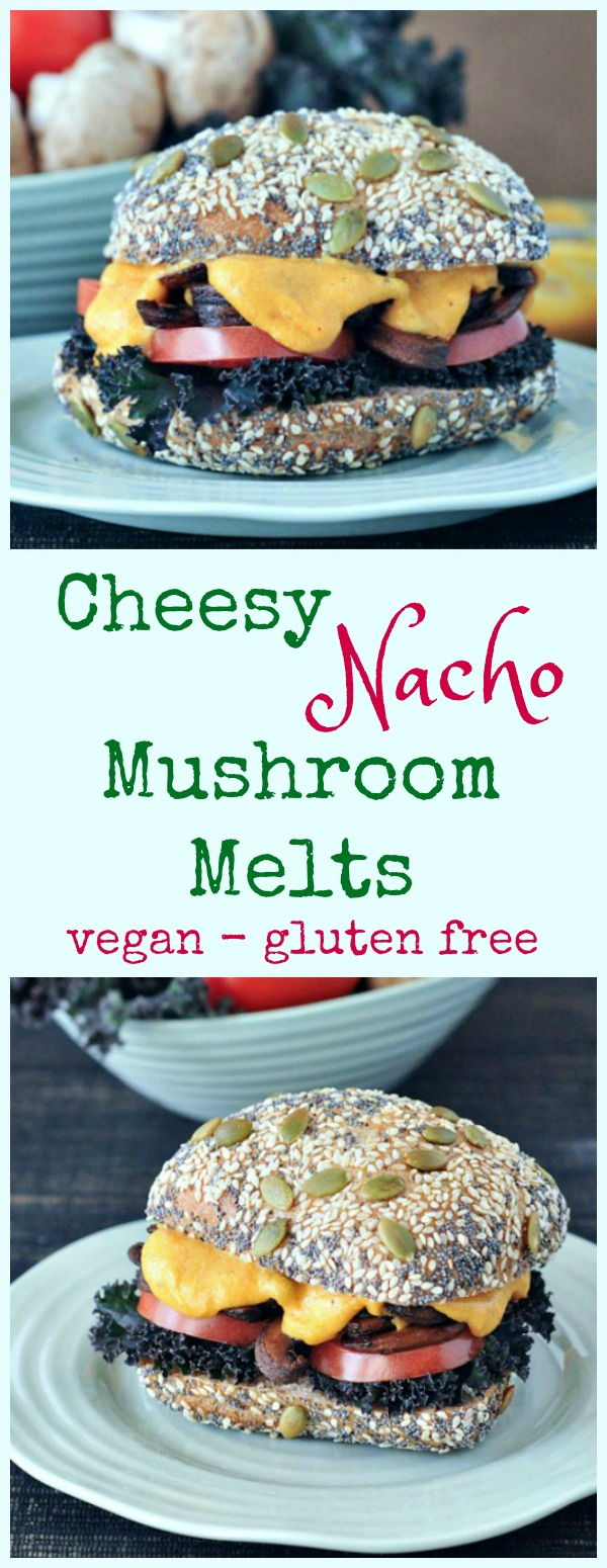Cheesy Nacho Mushroom Melts @spabettie #vegan #glutenfree