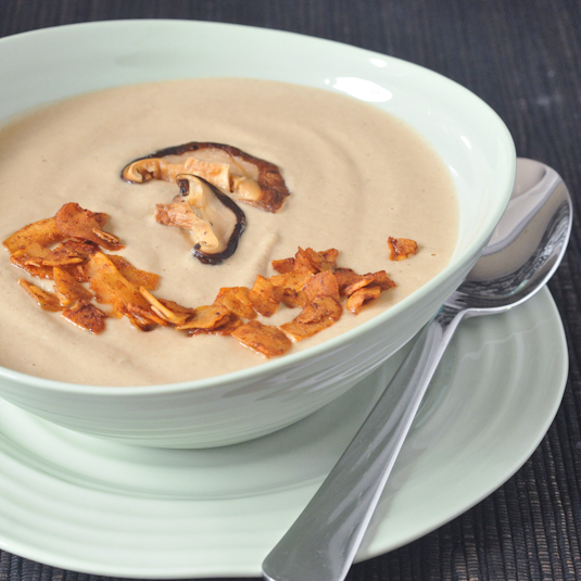 Hearty Roasted Mushroom Bisque