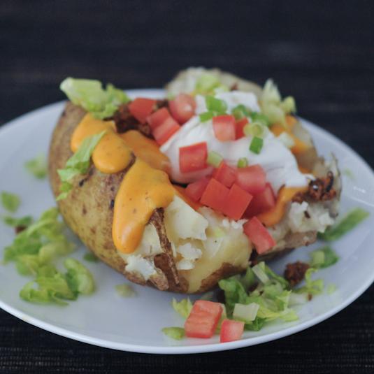 Taco Stuffed Baked Potato [vegan]