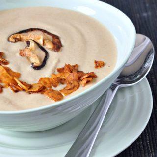 Hearty Roasted Mushroom Bisque @spabettie