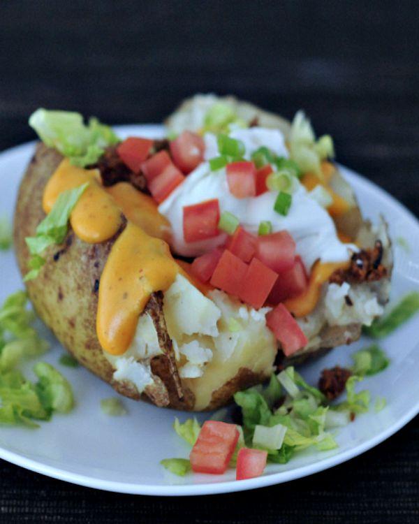 Taco Stuffed Baked Potato - spabettie