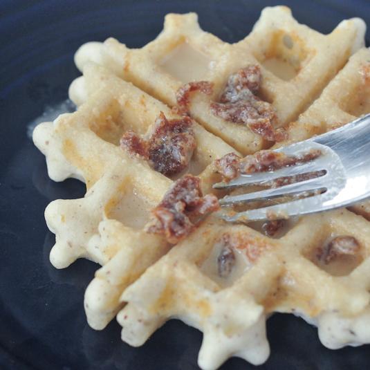Tahini Date Waffles