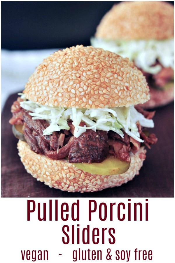 Pulled Porcini Sliders @spabettie #vegan #glutenfree #soyfree #BBQ
