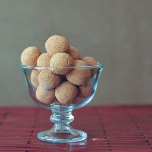 Cinnamon Chocolate Almond Truffles