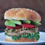 Garlic Kale Stuffed Portobello Burgers @spabettie
