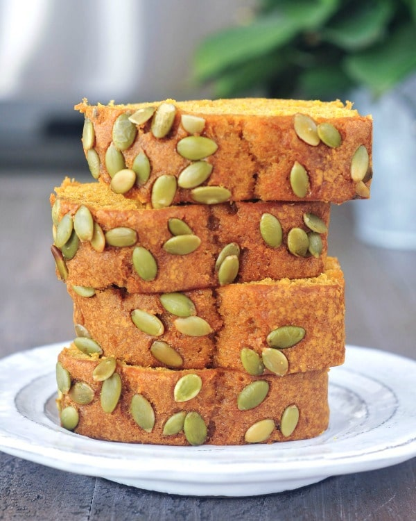 Pumpkin Bread with Salted Pepitas