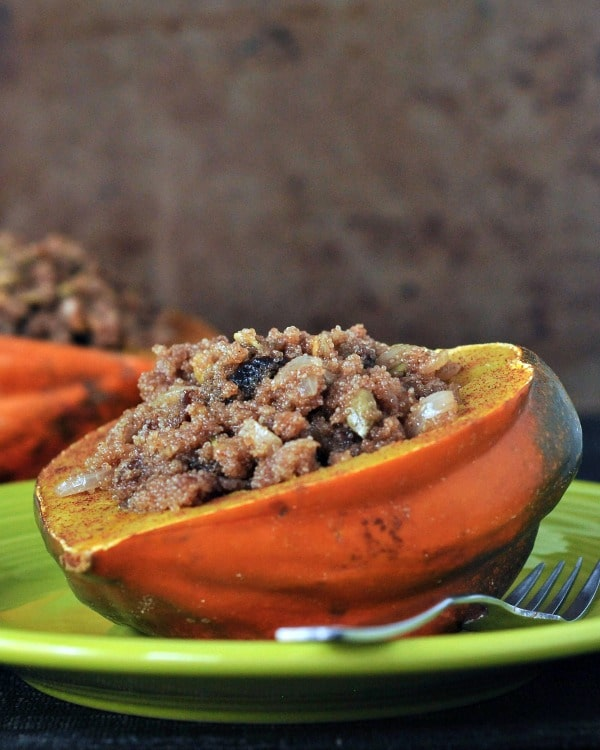 Amaranth Stuffed Acorn Squash @spabettie #vegan #glutenfree #soyfree #holiday #comfortfood