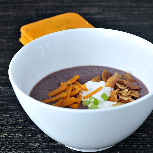 Roasted Purple Potato Soup @spabettie