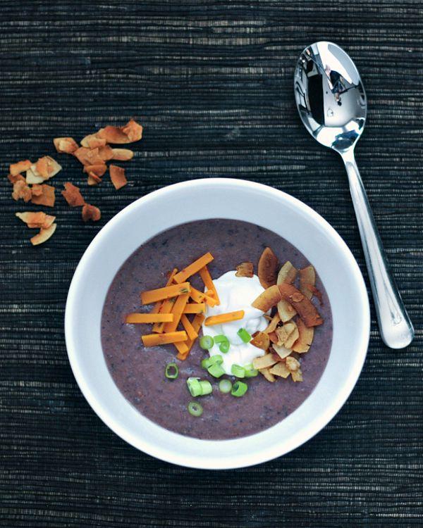 Roasted Purple Potato Soup @spabettie