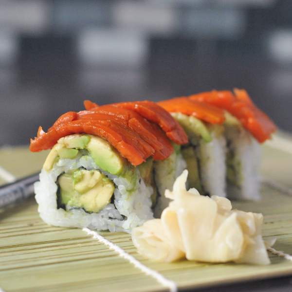 Avocado Veggie Lox Roll
