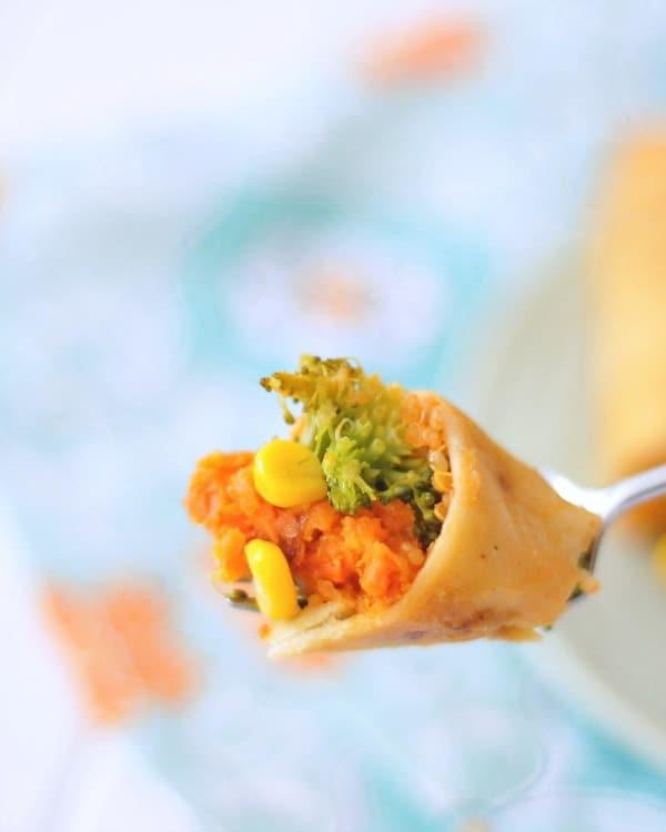 Crispy Sweet Potato Veggie Enchiladas @spabettie #glutenfree #dairyfree