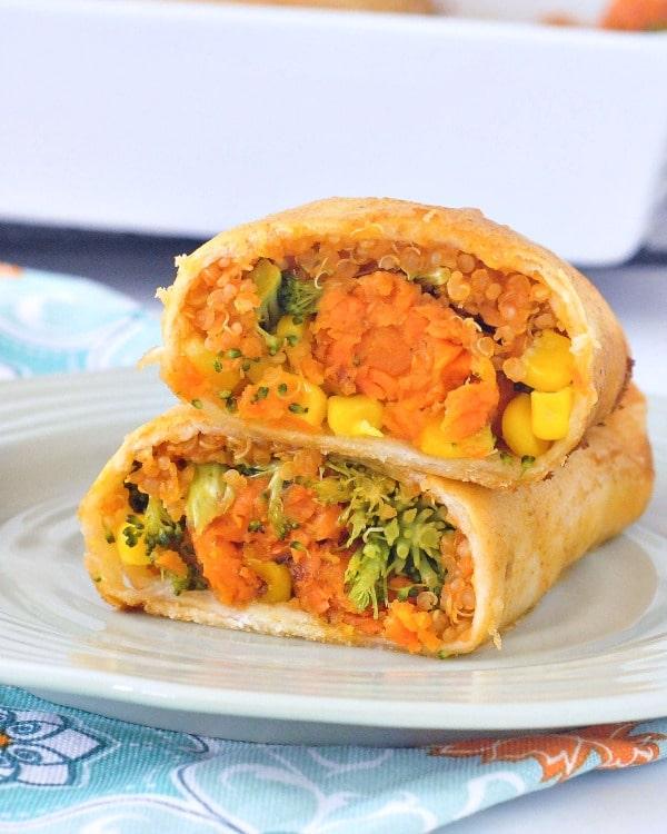 Crispy Sweet Potato Veggie Enchiladas @spabettie #vegan #comfortfood