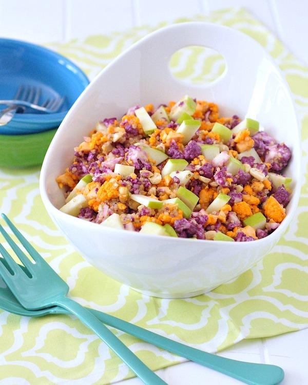 Cauliflower Cashew Confetti Salad @spabettie