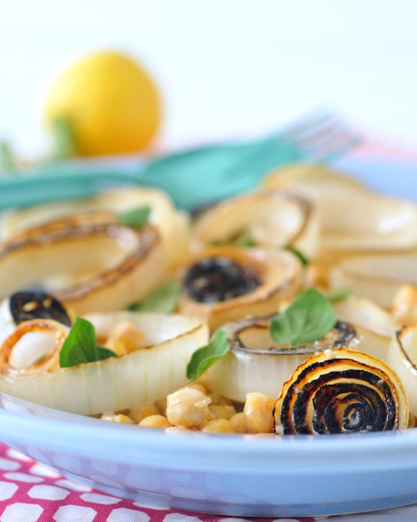 Sweet Vidalia Onion Salad with Tangy Lemon Cream Dressing @Cooking_Light