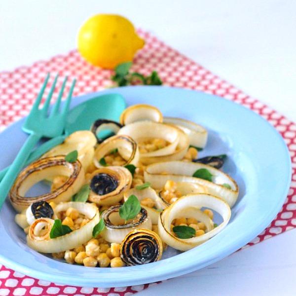 Sweet Vidalia Onion Salad with Tangy Lemon Cream Dressing @Cooking_Light