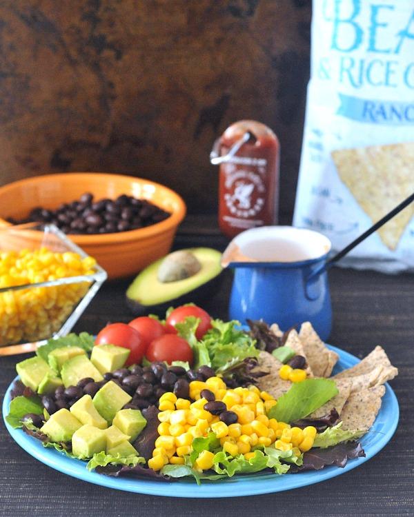 Santa Fe Taco Salad with Cool Salsa Ranch @spabettie