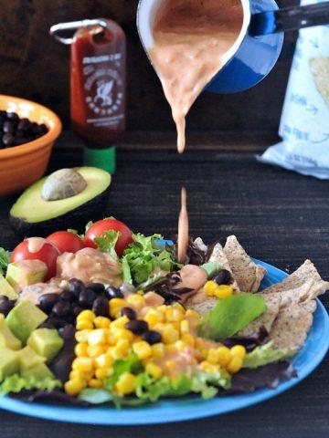 Fresh Santa Fe Salad with Salsa Ranch