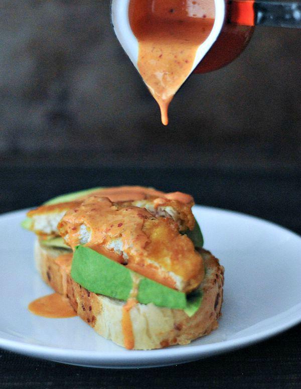 Avocado Fishless Toast with Spicy Kimchi Sauce @spabettie