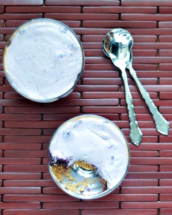 Brunch Perfect Baked Blueberry Custards @spabettie