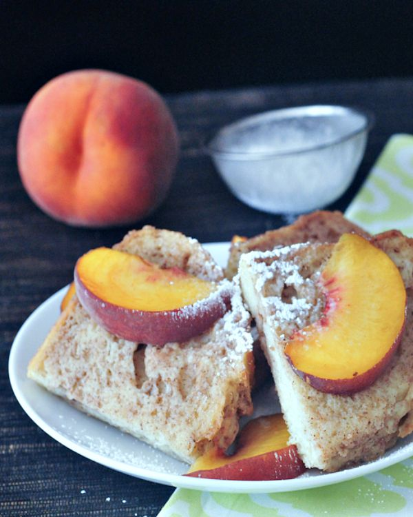 Peaches and Cream French Toast @spabettie