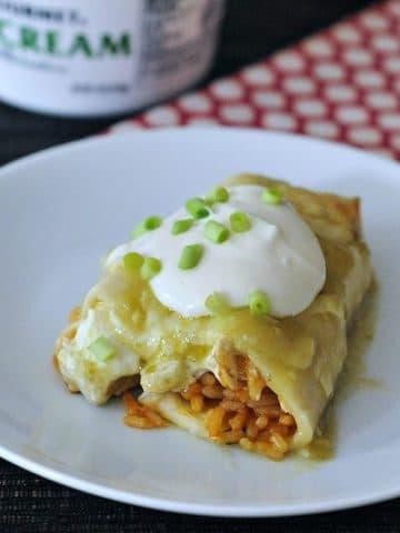 Cheesy Hatch Chile Enchiladas @spabettie