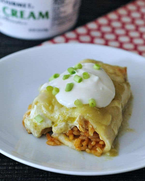 Cheesy Hatch Chile Enchiladas