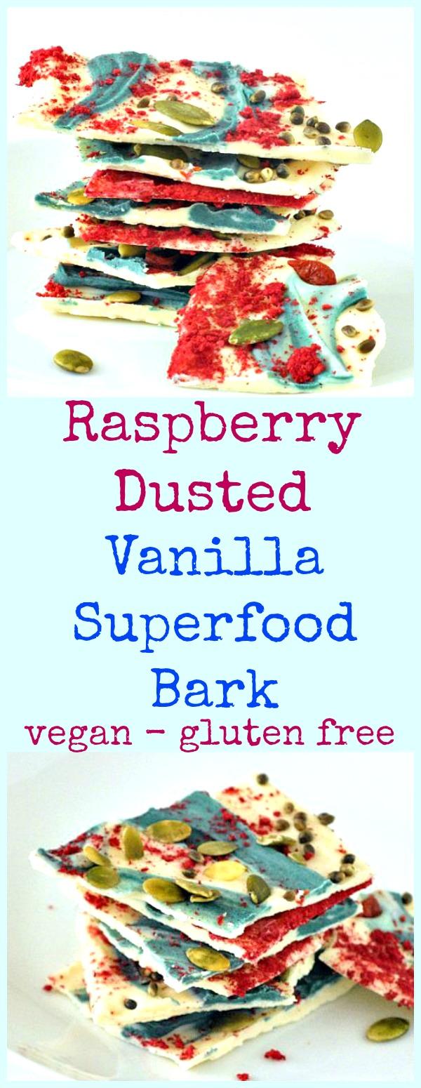 Raspberry Dusted Vanilla Bark @spabettie #vegan