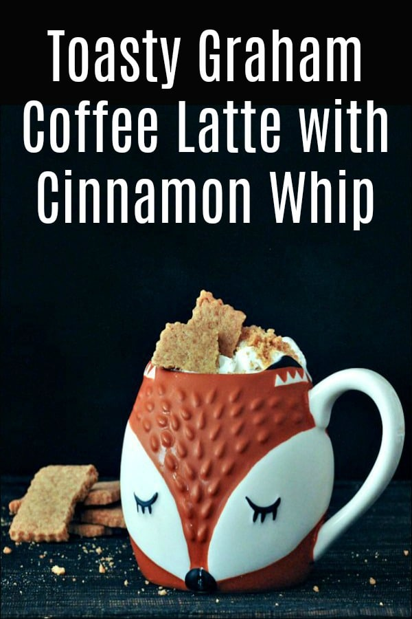 Toasty Graham Coffee Latte with Cinnamon Whip @spabettie #vegan #coffee #breakfast #dessert