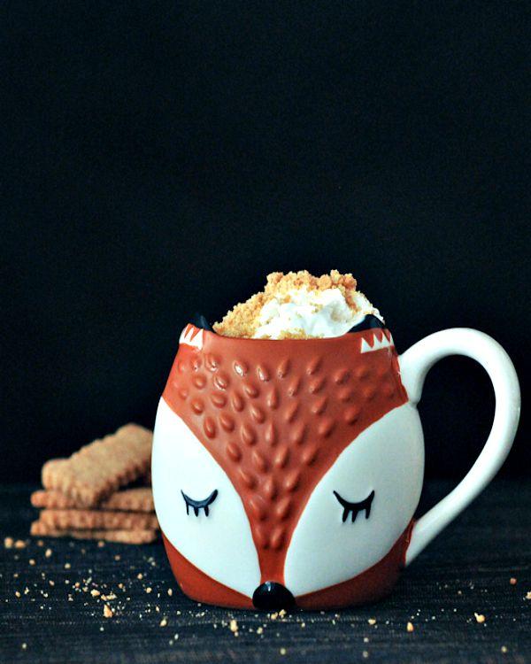 Toasty Graham Coffee Latte with Cinnamon Whip @spabettie