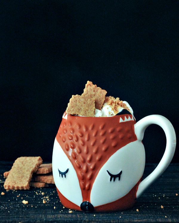 Vegan Breakfast Recipe Collection @spabettie Toasty Graham Coffee Latte with Cinnamon Whip