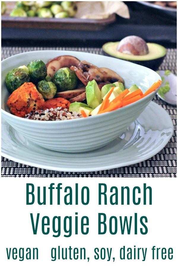Buffalo Ranch Veggie Bowl @spabettie #vegan #dairyfree #glutenfree #soyfree #comfortfood