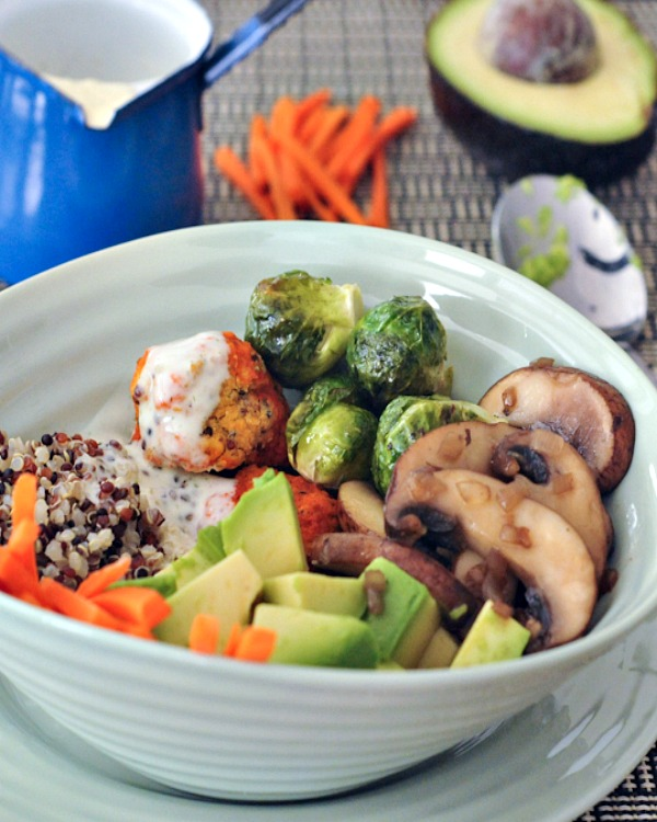 Buffalo Ranch Veggie Bowl @spabettie