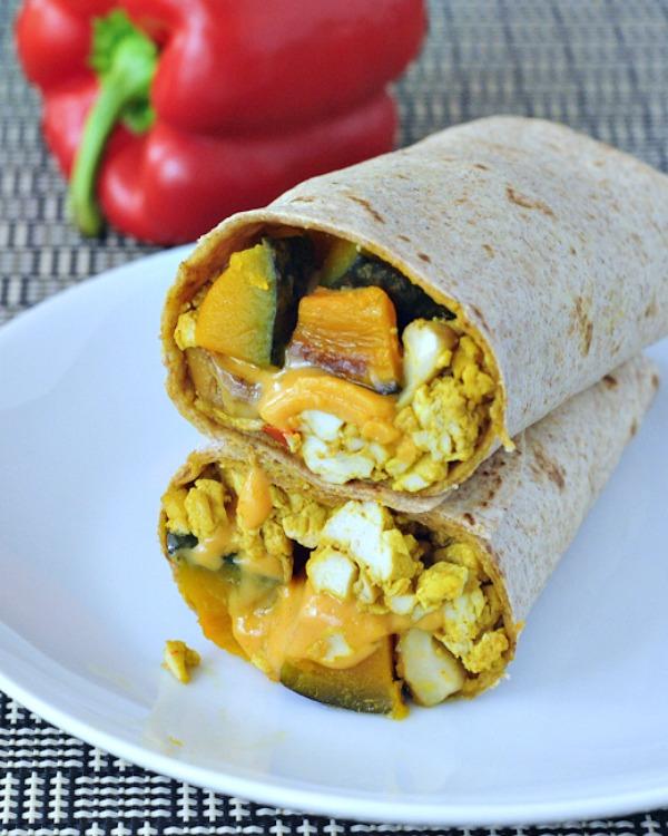 Cheesy Kabocha Breakfast Burrito @spabettie