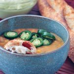 Smoky White Chili with Hatch Avocado Cream @spabettie