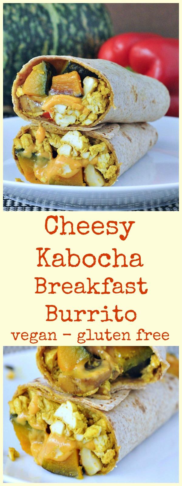 Cheesy Kabocha Breakfast Burrito @spabettie #vegan #glutenfree