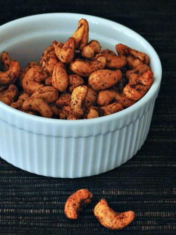 Sweet and Spicy Cashews @spabettie