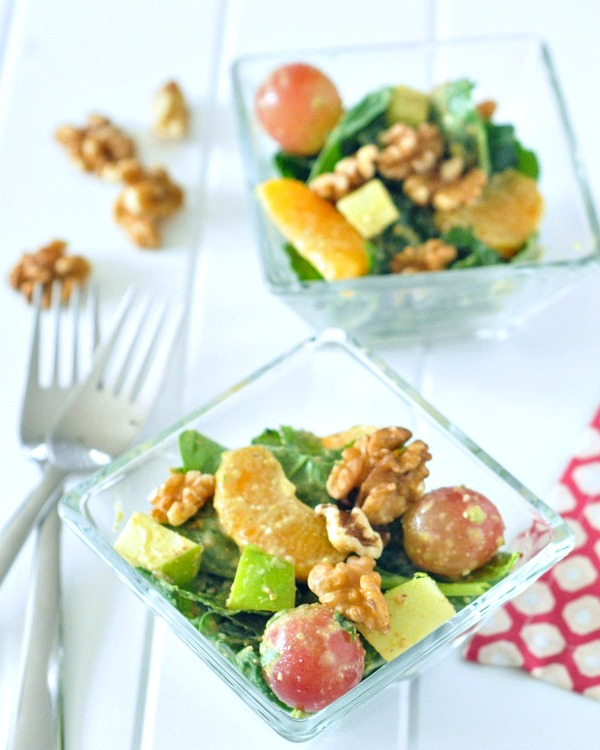 Winter Waldorf Salad with Walnut Mustard Dressing @spabettie